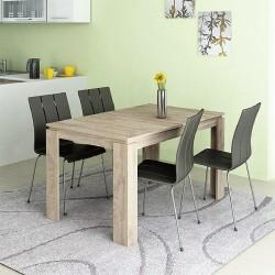 Tavolo da pranzo allungabile moderno modello Havana design accattivante Rovere chiaro