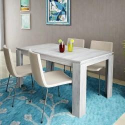 Tavolo da pranzo allungabile moderno modello Havana design accattivante Rovere Grigo