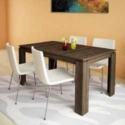 Tavolo da pranzo allungabile moderno modello Havana design accattivante  Rovere moro - Solo Arredo | Tutto per il tuo arredo