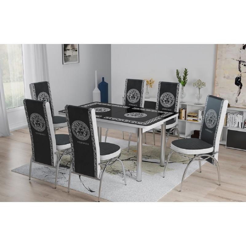 Tavolo Allungabile Stile Moderno Sala Da Pranzo Con Sei Sedie Design Elegante Solo Arredo Tutto Per Il Tuo Arredo