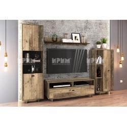 Parete attrezzata soggiorno moderna modello City 6046 design,raffinato soggiorno