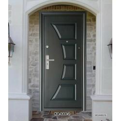 Portone blindato porta ingresso anta 64 mm modello 644 color testa di moro