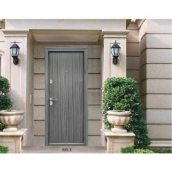 Portone blindato porta ingresso anta 64 mm modello KG01 Rovere Grigio venato