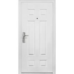 Portone blindato porta ingresso con vetro satinato e decorato