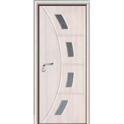Porte interne con vetro satinato, decorato Rovere naturale design moderno