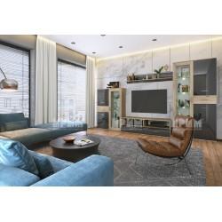 Parete attrezzata moderna mobile soggiorno City 6050 a LED design moderno