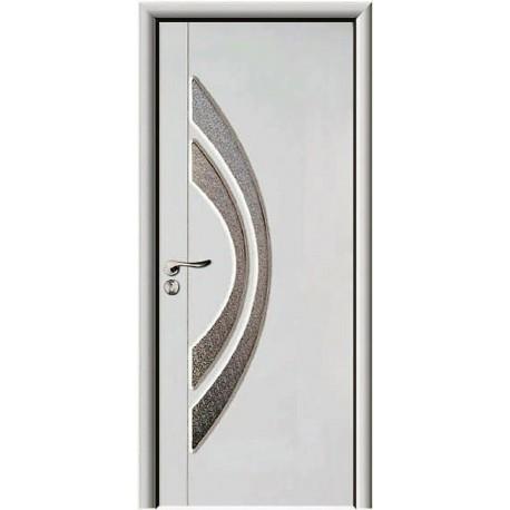Porte interne con vetro satinato, decorato colore Bianco design moderno