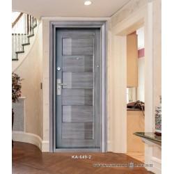 Portone blindato porta ingresso pannello lavorato effetto marmo modello 649