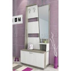 Mobile ingresso moderno con specchio appendiabiti modello Trio design raffinato