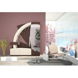 Mobile ingresso moderno specchio appendiabiti modello Sahara Rovere design