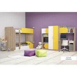 Cameretta bambini camera letto bimbi ragazzi modello Riky Design moderno