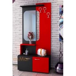 Mobile ingresso moderno specchio appendiabiti modello Hestelle design elegante