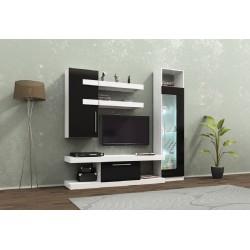 Parete attrezzata moderna mobile soggiorno modello Alenia a LED design moderno