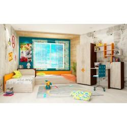 Cameretta bambini camera letto ragazzi bimbi due letti contenitore modello Alex