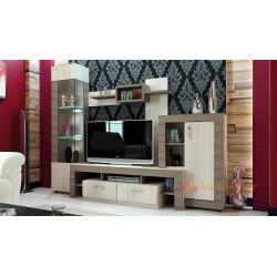 Parete attrezzata moderna zona giorno mobile porta TV modello samba Design