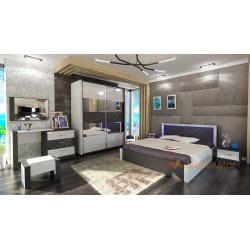 Camera da letto matrimoniale moderna compresa di rete a doghe modello Arte