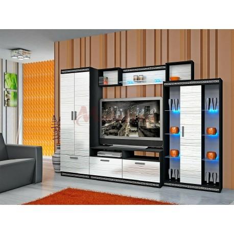 Parete attrezzata moderna mobile soggiorno stile Versace modello Niagara