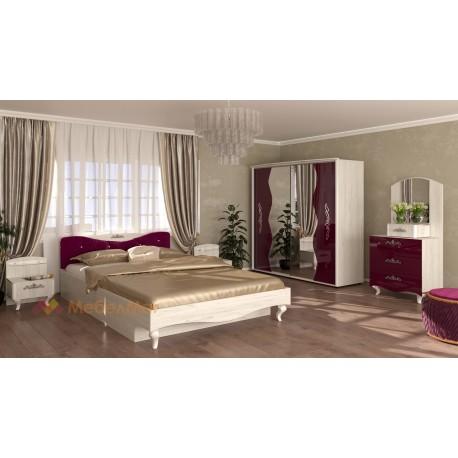 Camera da letto matrimoniale moderna compresa di rete a doghe modello Oriente