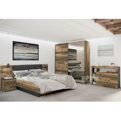 Camera da letto matrimoniale letto contenitore rete doghe City 7051 design