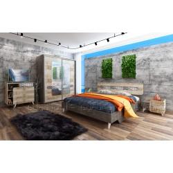 Camera da letto matrimoniale completa letto contenitore modello Forest design