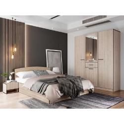 Camera da letto matrimoniale letto contenitore rete a doga modello City 7039