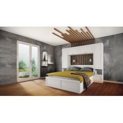 Camera da letto matrimoniale con vano contenitore integrato con armadio a ponte