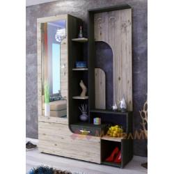 Mobile ingresso moderno con specchio e appendiabiti modello Soho