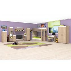 Cameretta bimbi modulabile camera letto ragazzi bimbi modello Kris design moderno