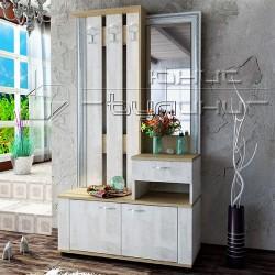 Mobile ingresso moderno con specchio e appendiabiti modello Mira