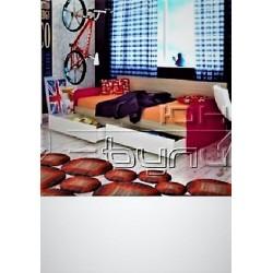 Letto singolo con cassetti laterali 82 x 190